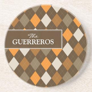 Guerreros Orange/Chocolate Coaster
