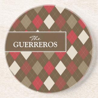 Guerreros Red/Chocolate Coaster