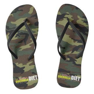 Guerrilla Diet Adult, Slim Straps Flip Flops