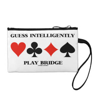 Guess Intelligently Play Bridge (Four Card Suits) Coin Purse