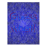 Guess what blue thatch post card postcard