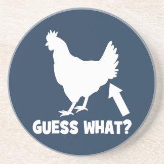Guess What? Chicken Butt Coaster