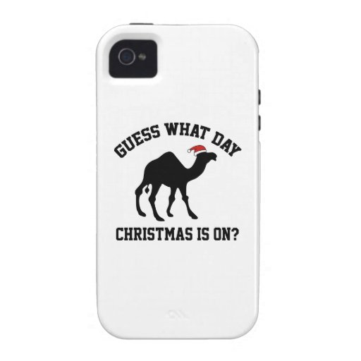 Guess What Day Christmas Is On? Oh Yeah! iPhone 4 Case