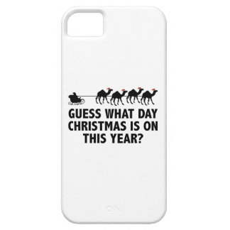 Guess What Day Christmas Is On This Year? iPhone 5 Cases