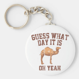 GUESS WHAT DAY IT IS? BASIC ROUND BUTTON KEY RING