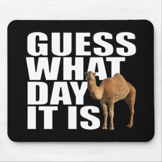 Guess What Day It Is Hump Day Camel Mouse Mat