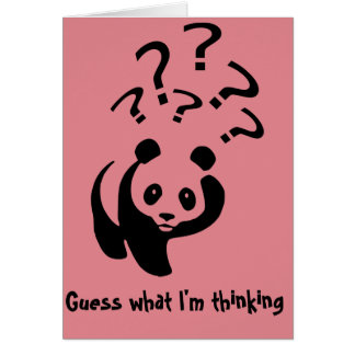 Guess What I'm Thinking Panda Personalize Cards