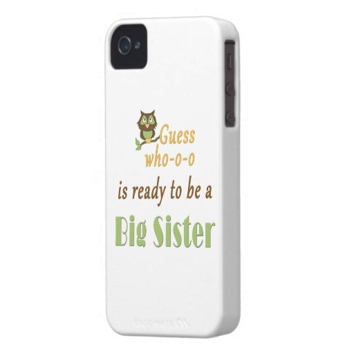 Guess Who Ready Big Sister Owl iPhone 4 Cases