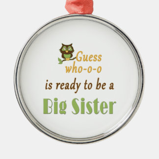 Guess Who Ready Big Sister Owl Christmas Ornament