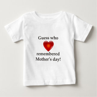 Guess who remembered mothers day baby T-Shirt