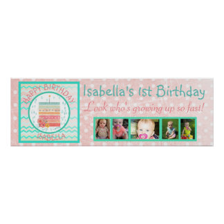 Guess Who Turning 1 First Birthday Banner Poster