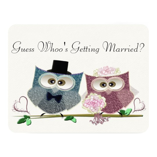 Guess Whoo's Getting Married, Wedding Invitation