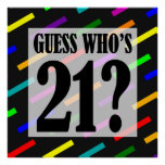 Guess Who's 21 Birthday Party Poster