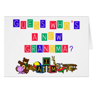 Guess Who's A New Grandma Cards
