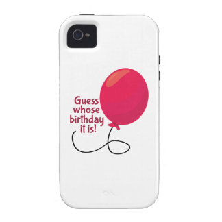 Guess Whose Birthday Case-Mate iPhone 4 Cover