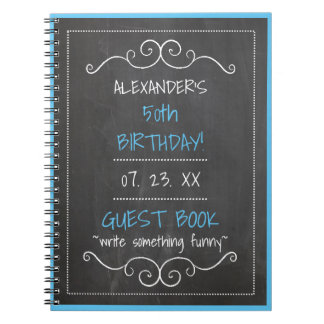 Guest Book 50th Birthday Party Celebration Note Book