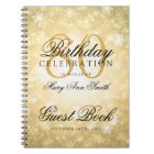 Guest book 80th Birthday Gold Winter Wonderland