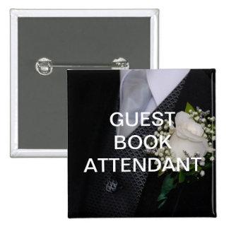 Guest Book Attendant 15 Cm Square Badge