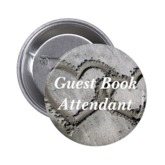 Guest Book Attendant Pinback Button