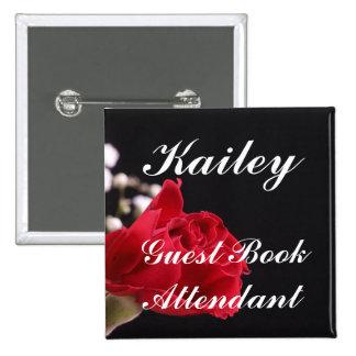 Guest Book Attendant Button