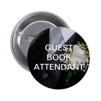 Guest Book Attendant 6 Cm Round Badge