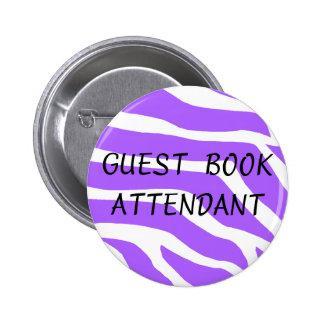 Guest Book Attendant Pinback Buttons