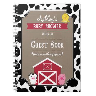 Guest Book - Farm Animals Spiral Notebook