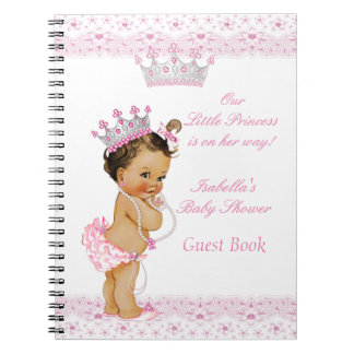 Guest Book Princess Baby Shower Pink White