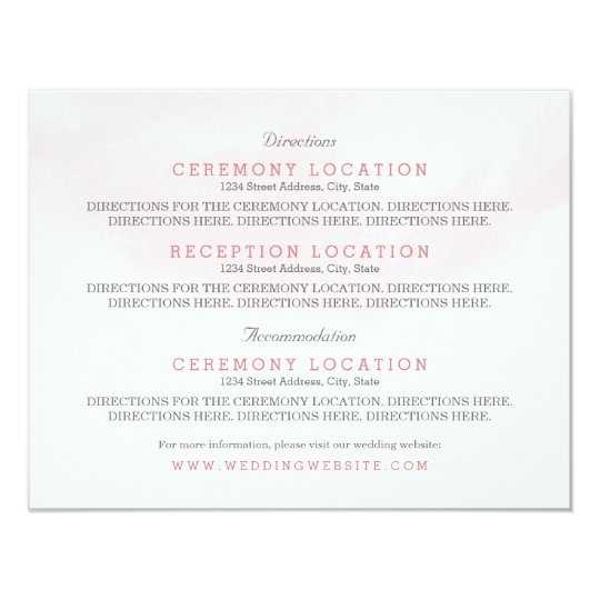 Guest Information Cards | Blush and Blooms