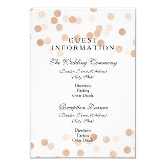 Guest Information Copper Foil Glitter Lights 9 Cm X 13 Cm Invitation Card
