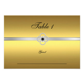 Guest Place Table Gold Silver Black Jewel Announcement