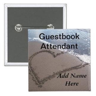 Guestbook Attendant Wedding Button