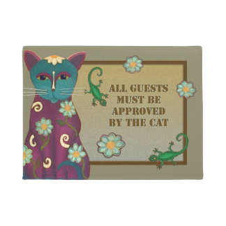 Guests Approved By The Cat Door Mat
