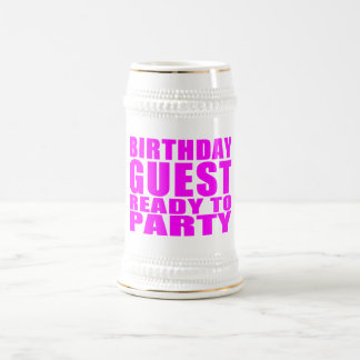 Guests Birthday Guest Ready to Party Mugs
