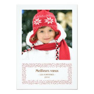 gui de Noël carte de photo de vacances 13 Cm X 18 Cm Invitation Card