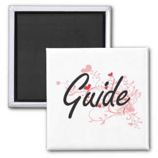 Guide Artistic Job Design with Hearts Square Magnet