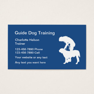 Guide Dog Training Business Card