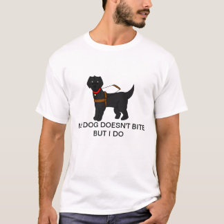 Guide Dogs Don't Bite (Black, smooth) T-Shirt