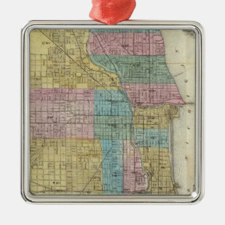 Guide Map of Chicago Christmas Ornament