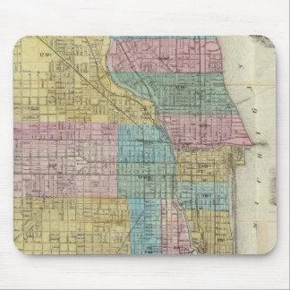 Guide Map of Chicago Mouse Mat