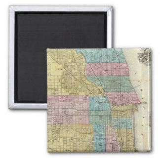 Guide Map of Chicago Square Magnet