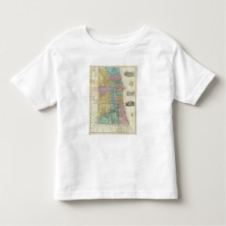 Guide Map of Chicago Toddler T-Shirt