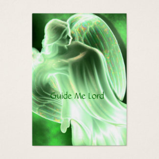 Guide Me Lord - Green Angel Prayer Card