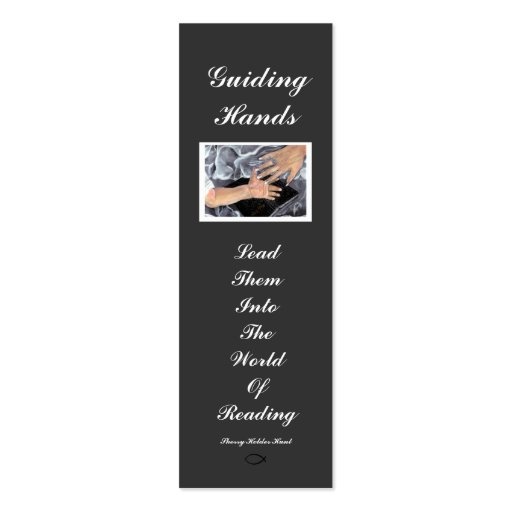 Guiding Hands, Bookmark Customized Business Card