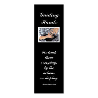 Guiding Hands, We teach... Double-Sided Mini Business Cards (Pack Of 20)