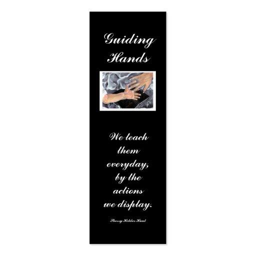 Guiding Hands, We teach... Business Cards