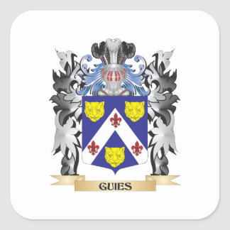 Guies Coat of Arms - Family Crest Square Sticker