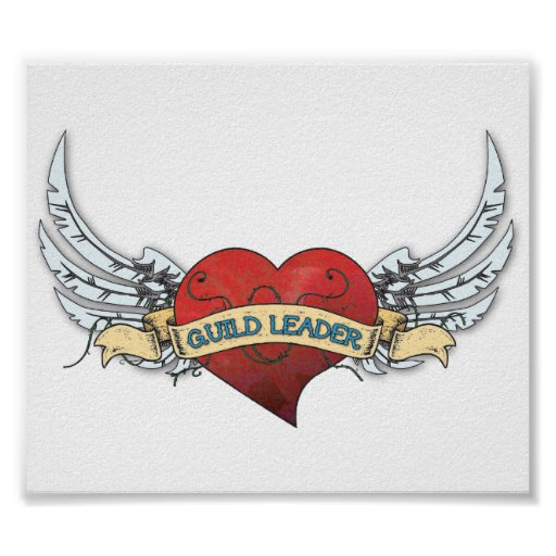 GUILD LEADER Tattoo - Heart and Wings Posters