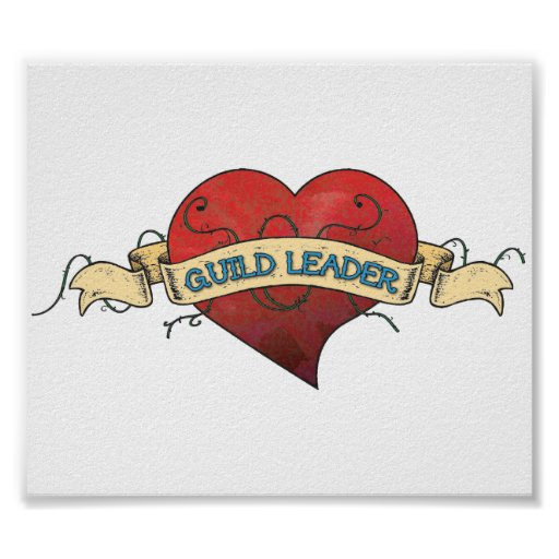 GUILD LEADER Tattoo - Heart Poster
