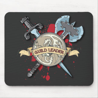 GUILD LEADER Tattoo - Sword, Axe, and Shield Mouse Mat